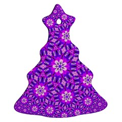 Purple Flower Rosette Christmas Tree Ornament (Two Sides)