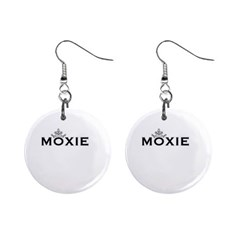 Moxie Logo Mini Button Earrings