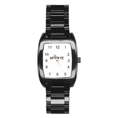 Moxie Logo Stainless Steel Barrel Watch