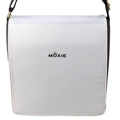 Moxie Logo Flap Closure Messenger Bag (small)