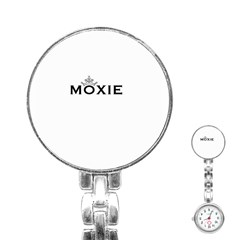 Moxie Logo Stainless Steel Nurses Watch