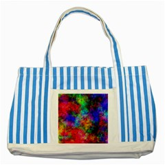 Plasma 27 Blue Striped Tote Bag