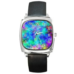 Plasma 28 Square Leather Watch