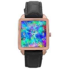 Plasma 28 Rose Gold Leather Watch