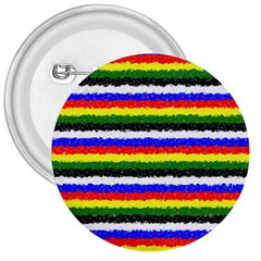 Horizontal Basic Colors Curly Stripes 3  Button