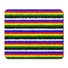 Horizontal Basic Colors Curly Stripes Large Mouse Pad (rectangle)