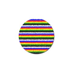 Horizontal Basic Colors Curly Stripes Golf Ball Marker