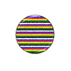 Horizontal Basic Colors Curly Stripes Golf Ball Marker 10 Pack (for Hat Clip)