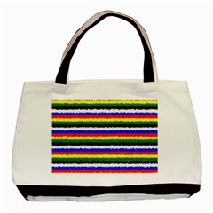 Horizontal Basic Colors Curly Stripes Classic Tote Bag