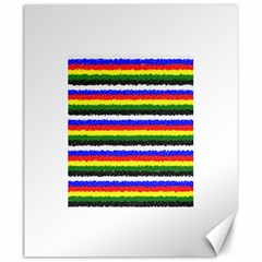 Horizontal Basic Colors Curly Stripes Canvas 20  x 24  (Unframed)