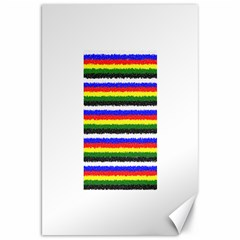 Horizontal Basic Colors Curly Stripes Canvas 20  X 30  (unframed)