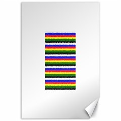 Horizontal Basic Colors Curly Stripes Canvas 24  x 36  (Unframed)