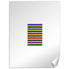 Horizontal Basic Colors Curly Stripes Canvas 36  x 48  (Unframed)