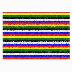 Horizontal Basic Colors Curly Stripes Glasses Cloth (large, Two Sided)