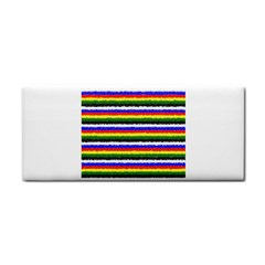 Horizontal Basic Colors Curly Stripes Hand Towel