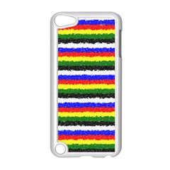 Horizontal Basic Colors Curly Stripes Apple Ipod Touch 5 Case (white)
