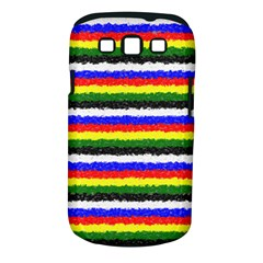 Horizontal Basic Colors Curly Stripes Samsung Galaxy S Iii Classic Hardshell Case (pc+silicone)
