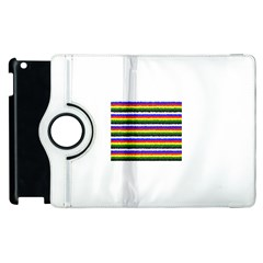 Horizontal Basic Colors Curly Stripes Apple iPad 2 Flip 360 Case