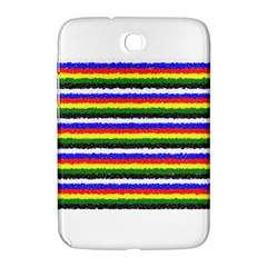 Horizontal Basic Colors Curly Stripes Samsung Galaxy Note 8 0 N5100 Hardshell Case