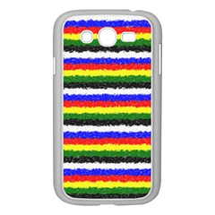 Horizontal Basic Colors Curly Stripes Samsung Galaxy Grand DUOS I9082 Case (White)