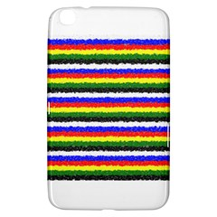 Horizontal Basic Colors Curly Stripes Samsung Galaxy Tab 3 (8 ) T3100 Hardshell Case