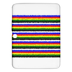 Horizontal Basic Colors Curly Stripes Samsung Galaxy Tab 3 (10.1 ) P5200 Hardshell Case