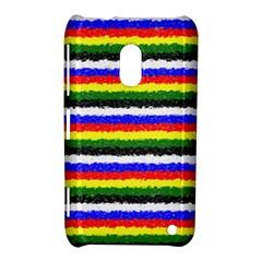 Horizontal Basic Colors Curly Stripes Nokia Lumia 620 Hardshell Case