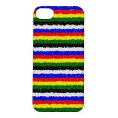 Horizontal Basic Colors Curly Stripes Apple iPhone 5S Hardshell Case