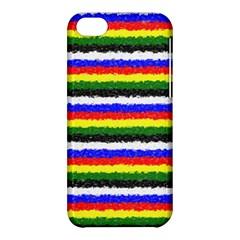 Horizontal Basic Colors Curly Stripes Apple Iphone 5c Hardshell Case