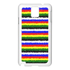 Horizontal Basic Colors Curly Stripes Samsung Galaxy Note 3 N9005 Case (White)