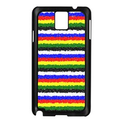 Horizontal Basic Colors Curly Stripes Samsung Galaxy Note 3 N9005 Case (Black)