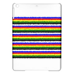 Horizontal Basic Colors Curly Stripes Apple iPad Air Hardshell Case
