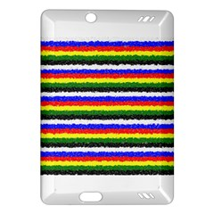 Horizontal Basic Colors Curly Stripes Kindle Fire HD (2013) Hardshell Case