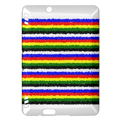 Horizontal Basic Colors Curly Stripes Kindle Fire Hdx Hardshell Case