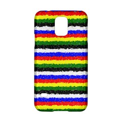 Horizontal Basic Colors Curly Stripes Samsung Galaxy S5 Hardshell Case