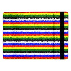 Horizontal Basic Colors Curly Stripes Samsung Galaxy Tab Pro 12 2  Flip Case