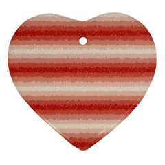Horizontal Red Curly Stripes Heart Ornament