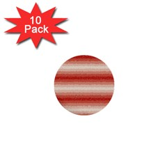 Horizontal Red Curly Stripes 1  Mini Button (10 Pack)