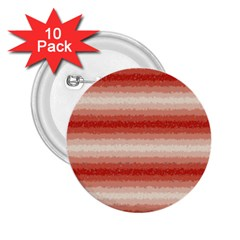 Horizontal Red Curly Stripes 2 25  Button (10 Pack)