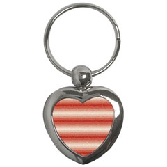 Horizontal Red Curly Stripes Key Chain (Heart)