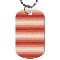 Horizontal Red Curly Stripes Dog Tag (two Sided)