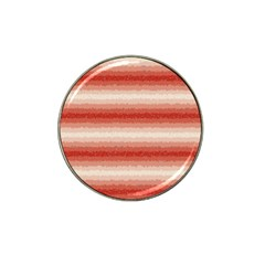 Horizontal Red Curly Stripes Golf Ball Marker 10 Pack (for Hat Clip)