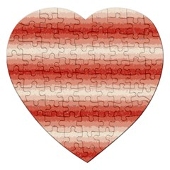 Horizontal Red Curly Stripes Jigsaw Puzzle (Heart)