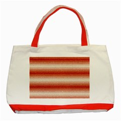 Horizontal Red Curly Stripes Classic Tote Bag (red)