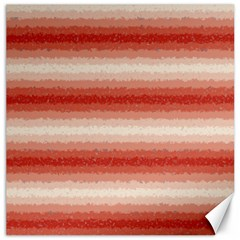 Horizontal Red Curly Stripes Canvas 12  X 12  (unframed)