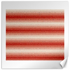 Horizontal Red Curly Stripes Canvas 16  X 16  (unframed)