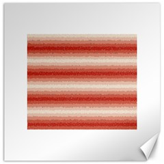 Horizontal Red Curly Stripes Canvas 20  X 20  (unframed)