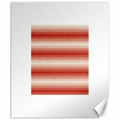 Horizontal Red Curly Stripes Canvas 20  x 24  (Unframed)