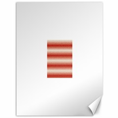 Horizontal Red Curly Stripes Canvas 36  x 48  (Unframed)