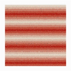 Horizontal Red Curly Stripes Glasses Cloth (Medium, Two Sided)